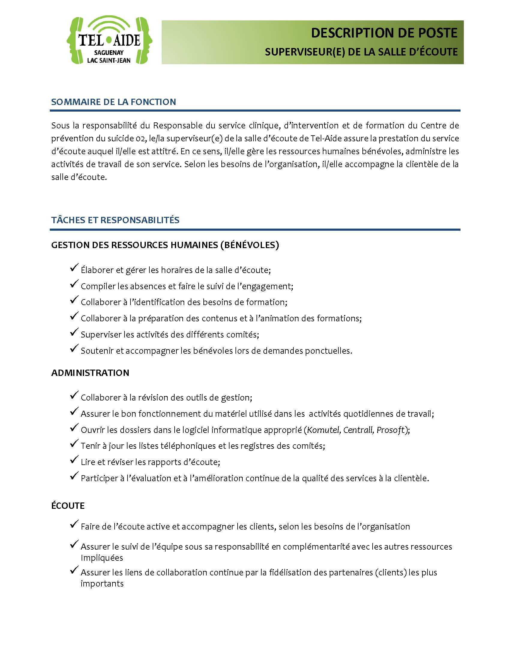Superviseure Tel Aide Page 1